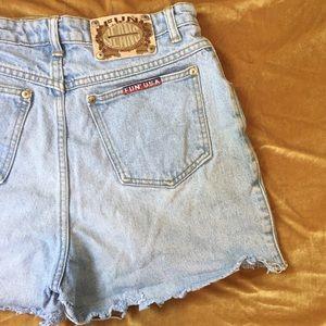 VTG FUN Cut-Off Denim Shorts